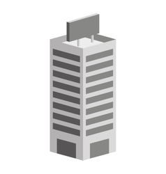 Building construction isometric icon vector
