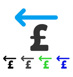 Cashback pound flat icon vector