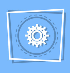 Cog wheel icon gear settings web button vector
