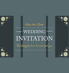 Collection stock wedding invitation card vector