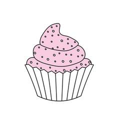 cupcake delicious dessert vector image vector image