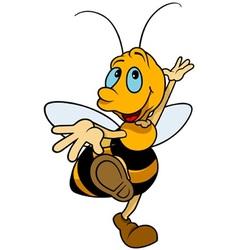 Dancing bumblebee vector