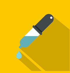 dropper with droplet icon flat style vector image