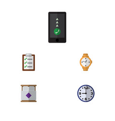 Flat icon oneday set of timer questionnaire vector