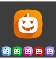 Halloween pumpkin icon vector image
