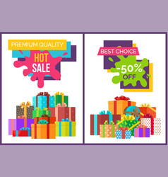 Hot sale for premium quality products posters vector
