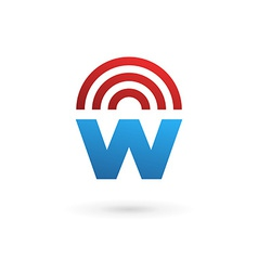 Letter w wireless logo icon design template vector
