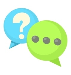 Question and exclamation speech bubbles icon vector