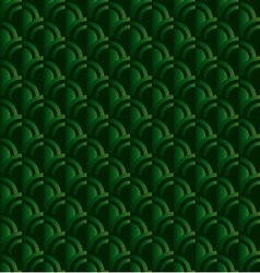 Retro squama green seamless pattern in ar deco vector