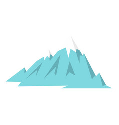 Rocky mountains icon isolated vector