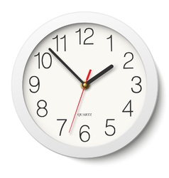Round wall clock without divisions vector image vector image