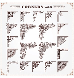 Set of Vintage Corners 3 vector image vector image
