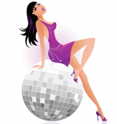 sexy female dancer vector image