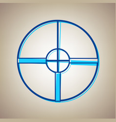 Sight sign sky blue icon vector