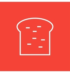Single slice of bread line icon vector