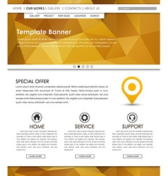 Template web site vector image