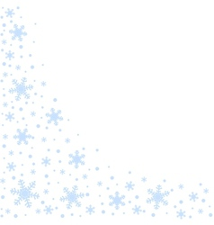 Wave of snowflakes vector image