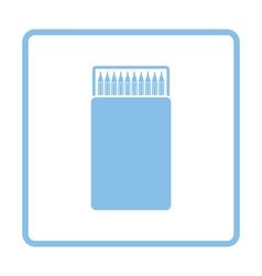Pencil box icon vector