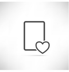 Wish list icon heart empty vector