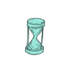 Vintage hour glass drawing vector