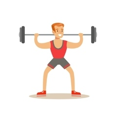 Man Weight Lifting  Member Of The Fitness Club vector image