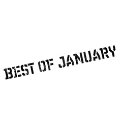 Best of january rubber stamp vector