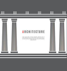 Architecture greek temple background vector
