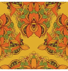 Seamless exotic flower pattern in vector image