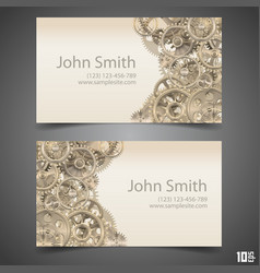 gears business card vector image