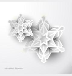 Geometric art ramadan greeting celebration vector