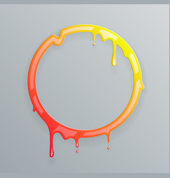 hot colors melting frame 3d flowing art flux vector image