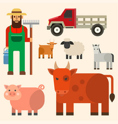 farmer character man agriculture person profession vector image