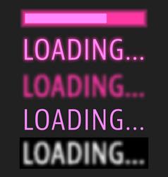 Loading various text with progress bar vector
