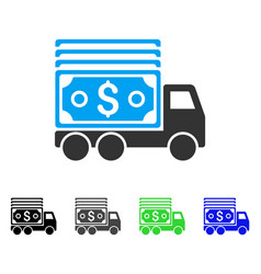 Cash lorry flat icon vector