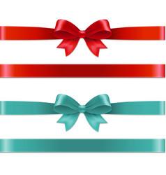 Color bows set vector