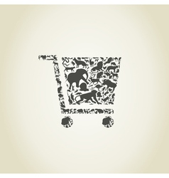 Cart an animal vector