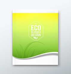 Green leaf ecology concept of annual report vector