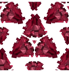 Geometric 3d seamless background vector
