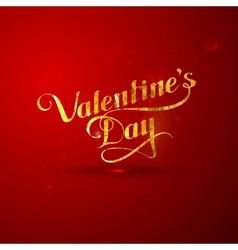 Golden foil st valentines day vector