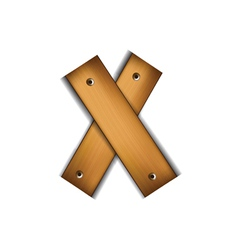 Wooden type x vector