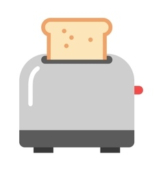 Toast popping toaster bread breakfast food kitchen vector