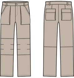 Work pants front and back vector