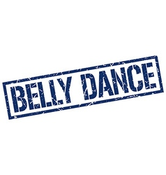 Belly dance stamp vector
