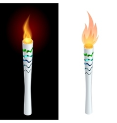 Torch fire championship icon a symbol of victory vector