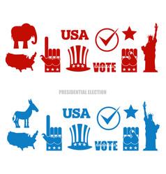 American elections sign set republican elephant vector