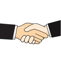 business handshake cartoon vector image