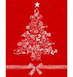 Christmas tree1 vector