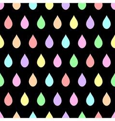 Colorful Pastel Rain Black Background vector image