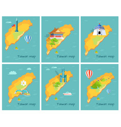 Concept of taiwan map in pacific ocean graphic vector