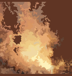 Drawn fire blast vector
